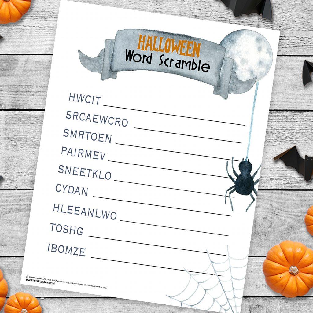 Halloween Word Scramble Game