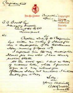 Captain Rostron's Confidential Letter