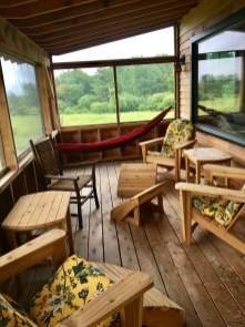 Adirondack Chairs on the porch