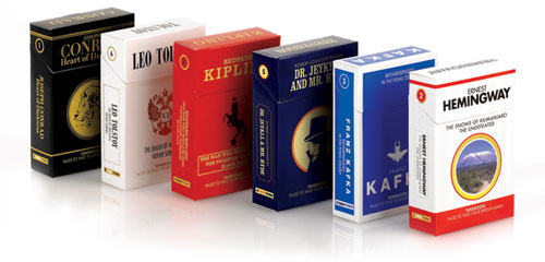 Tankbooks are similar in shape and format to a pack of cigarettes