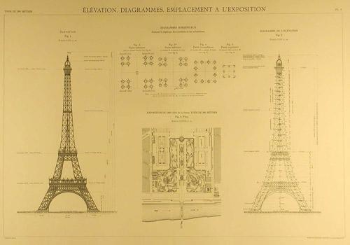 Eiffel Tower blueprints example