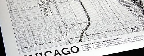 Typographic Map sample