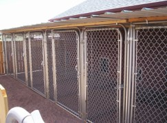 Outdoor kennels.