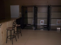 Indoor kennel area.