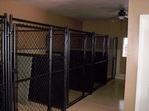 Indoor kennels.