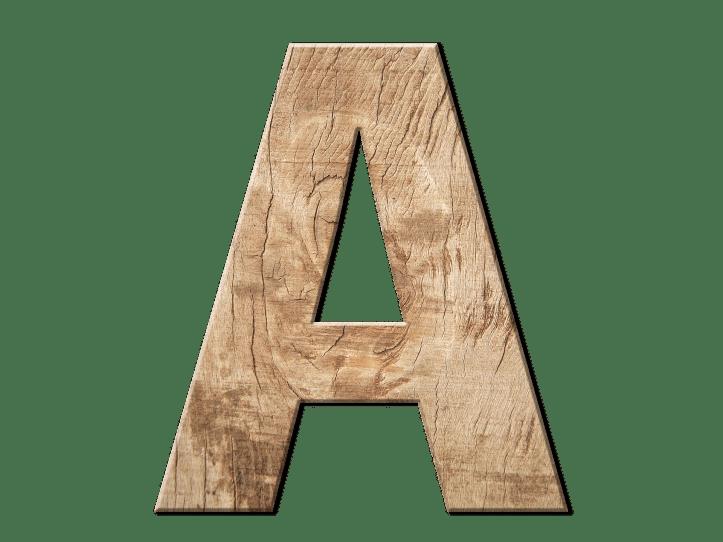木製 A の文字、上級者 - 函館英会話教室EigoLa - グループレッスン英会話
