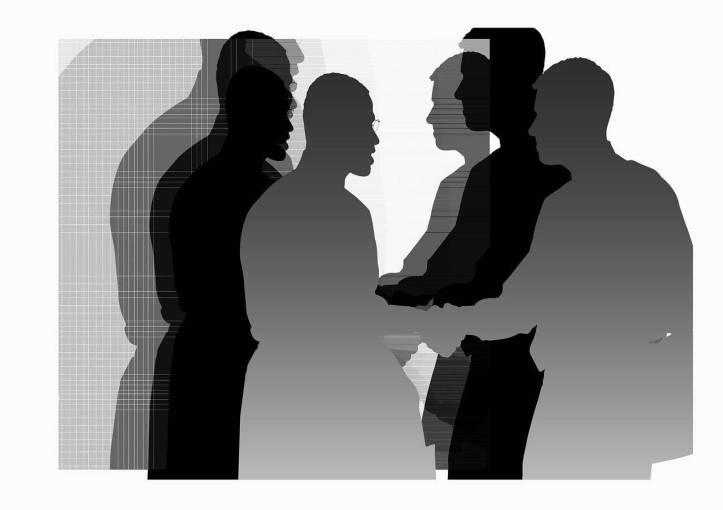 ネゴシエーター・仲介 サービス内容 ビジネスマンたちが握手している-函館英会話教室EigoLa