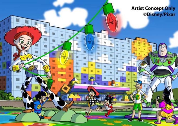 ディズニー・東京ディズニーリゾート・トイ・ストーリーホテル 2021年度オープン-ディズニーのイラスト、バスライトイヤーとジェシー-函館英会話教室EigoLa