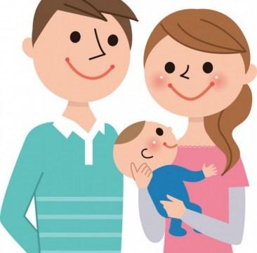 オーディションを受けるパパとママと赤ちゃん