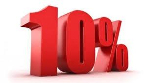10%を表す図