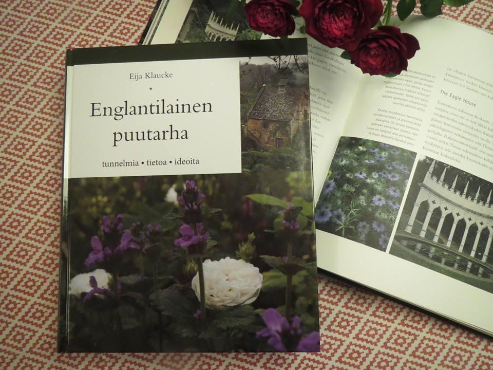 Englantilainen puutarha-kirja uusittu laitos.