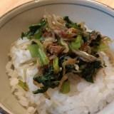 【小松菜とじゃこの甘辛ふりかけ】栄養たっぷり、ごはんが進む絶品メニューの作り方!