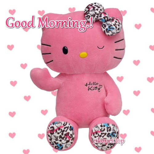 Τeddy bears with good morning