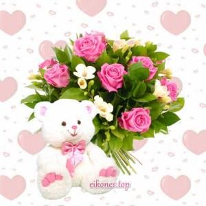 Ροζ μπουκέτα λουλουδιών για όλες τις περιστάσεις.