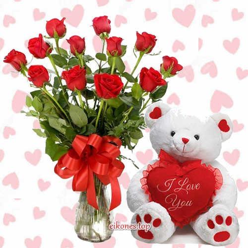 Εικόνες για αγάπη, αρκουδάκια και λουλούδια