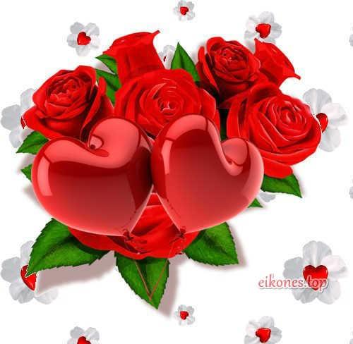 Λουλούδια και καρδούλες για την ημέρα του Αγίου Βαλεντίνου
