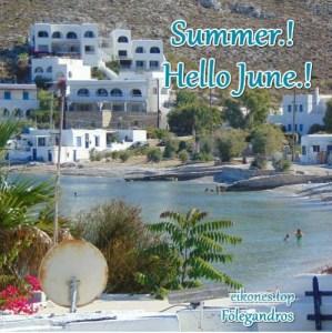Read more about the article Εικόνες για Welcome June και Happy Summer με Ελληνικές εικόνες.!