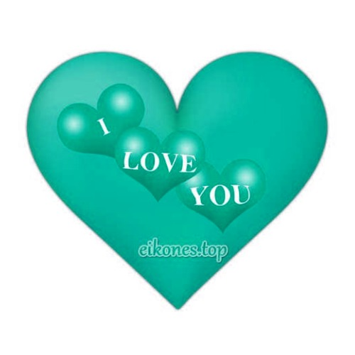 Hearts for Love and I Love You in different colors!
