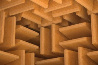 the walls of an anechoic chamber absorb sound and break up the waves, creating and eerie silence