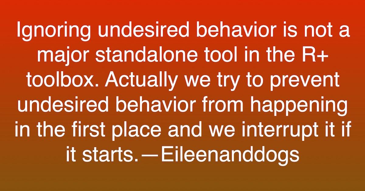 Ignoring behavior