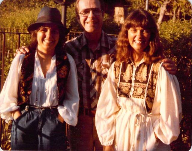 Offering my credentials as a California child of the 70s, with my dad, Norman, and sister Gail.