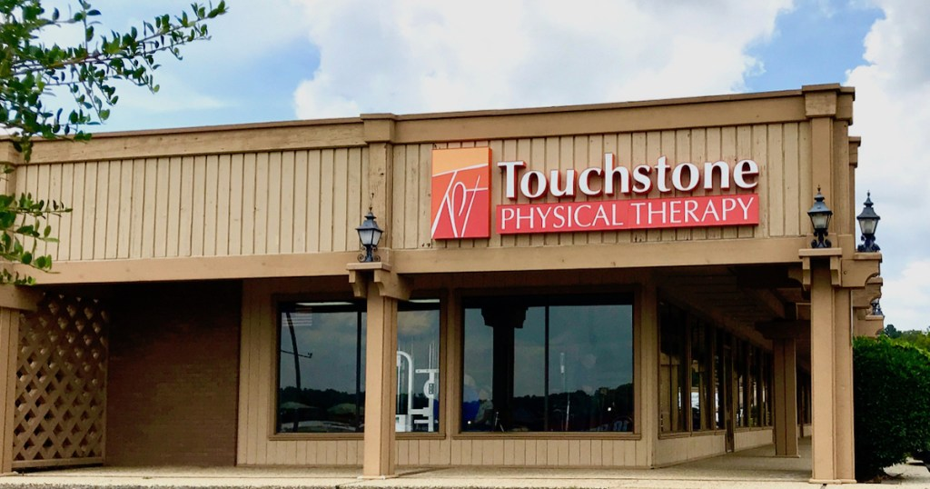 Touchstone physical therapy sign and storefront