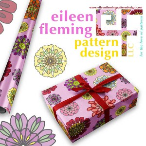 Geo Floral Gift Wrap