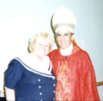 Eileen with Anthony Cardinal Bevilacqua