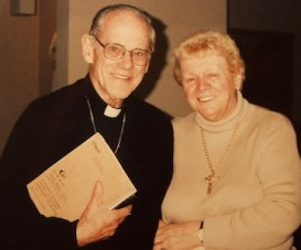 Eileen George with Archbishop Pierce
