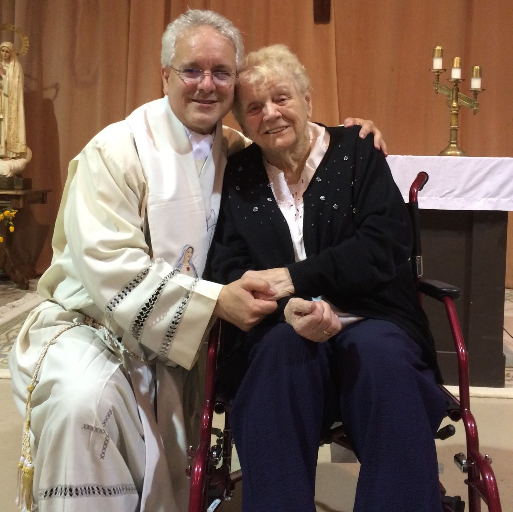 Eileen George and Fr. Jay Finelli