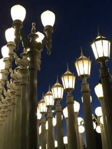 The lamps framing the Wilshire Blvd entrance are an iconic shot.
