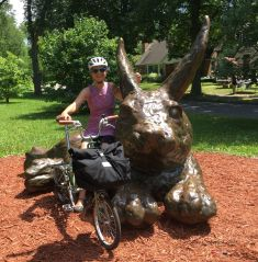 Kids love to climb on the rabbit along Minnehaha Creek Parkway #11