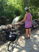 Filling LBJ's cement shoeprints #14 Minnehaha Falls