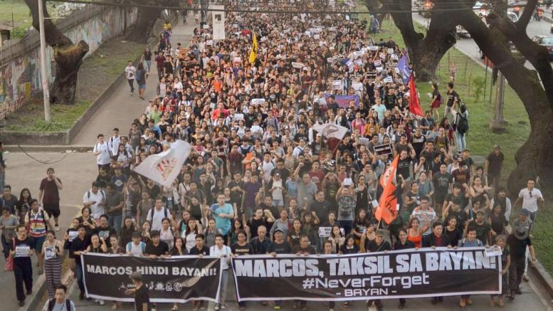Thousands of youth march from UP to Ateneo.