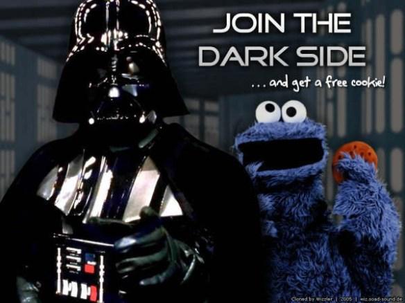 """Darth Vader y el monstruo de las galletas invitan a pasarse al """"lado oscuro"""""""