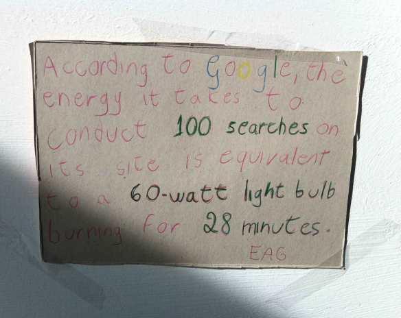 Las búsquedas en Google consumen energia