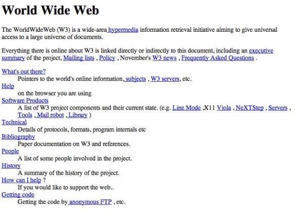 La primera pagina web