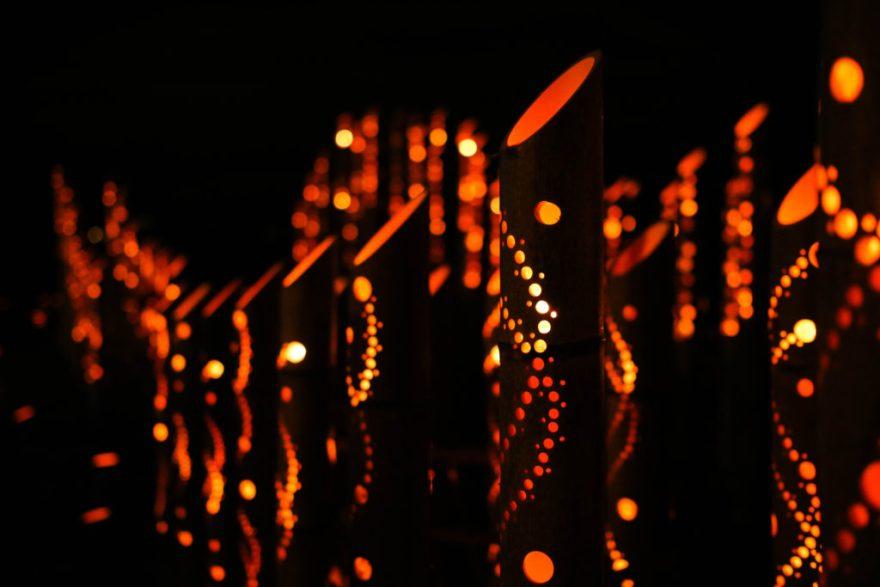 琴ヶ浜「竹灯りの宵」イルミネーション