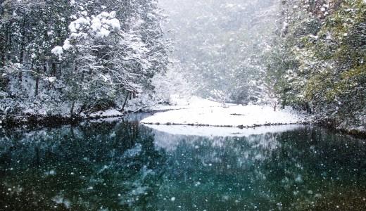 雪景色に感嘆!四万十川の冬は美しい