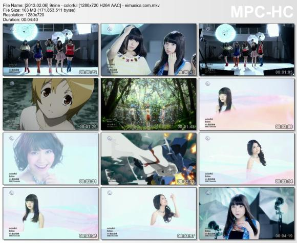 Download 9nine - colorful [720p]   [PV]