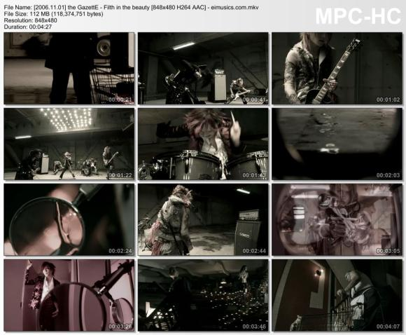 Download the GazettE - Filth in the beauty [480p]   [PV]