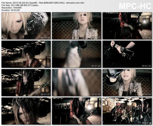 Download the GazettE - Red [480p]   [PV]
