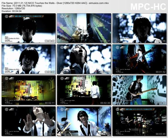 Download NICO Touches the Walls - Diver [720p]   [PV]