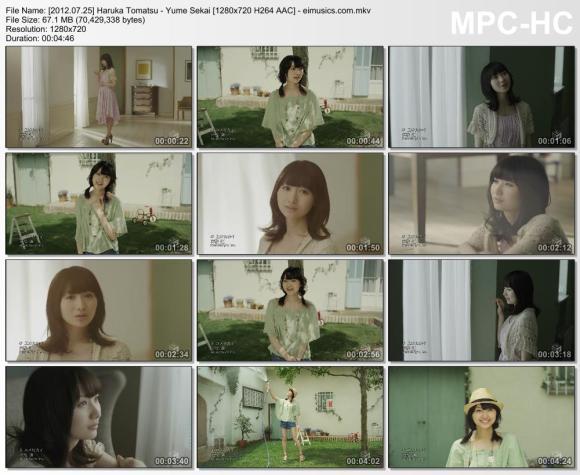 Download Haruka Tomatsu - Yume Sekai [720p]   [PV]