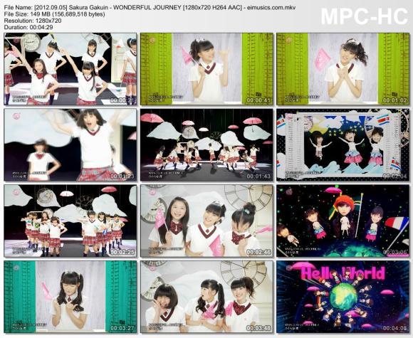 Download Sakura Gakuin - WONDERFUL JOURNEY [720p]   [PV]