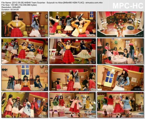 Download AKB48 Team Surprise - Suiyoubi no Alice [480p]   [PV]