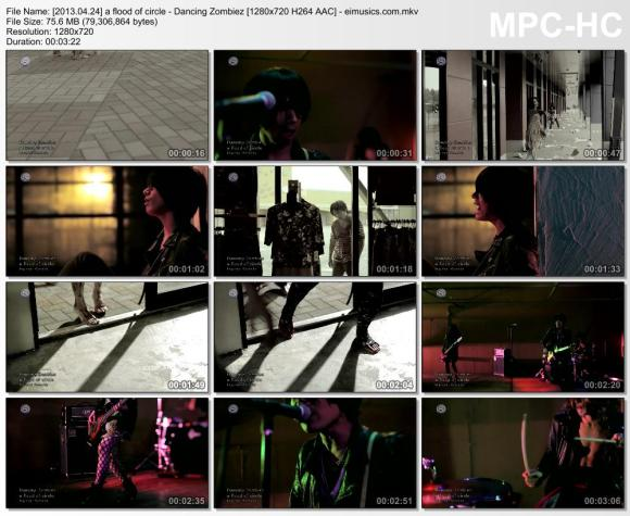 Download a flood of circle - Dancing Zombiez [720p]   [PV]