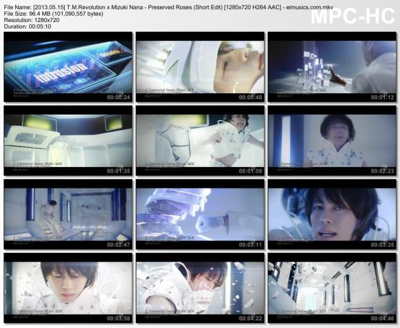 Download T.M.Revolution x Mizuki Nana - Preserved Roses (Short Edit) [720p]   [PV]