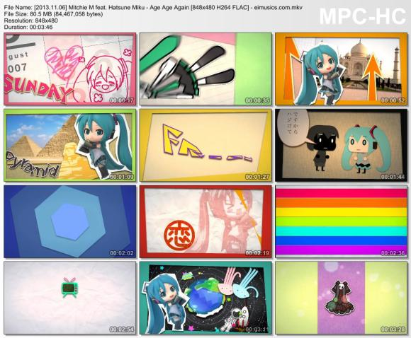 Download Mitchie M feat. Hatsune Miku - Age Age Again [480p]   [PV]