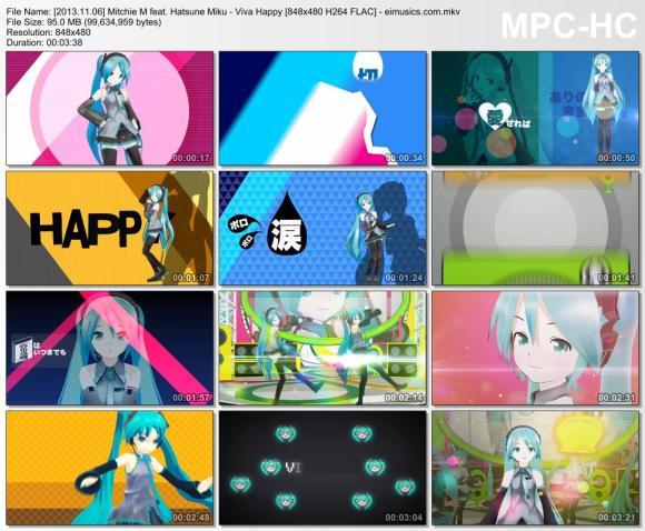 Download Mitchie M feat. Hatsune Miku - Viva Happy [480p]   [PV]